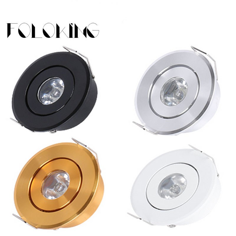 1W 3W 6W MINI Round  High Power LED Recessed Ceiling Down Light Lamps LED Downlights for Living Room Cabinet Bedroom(China)