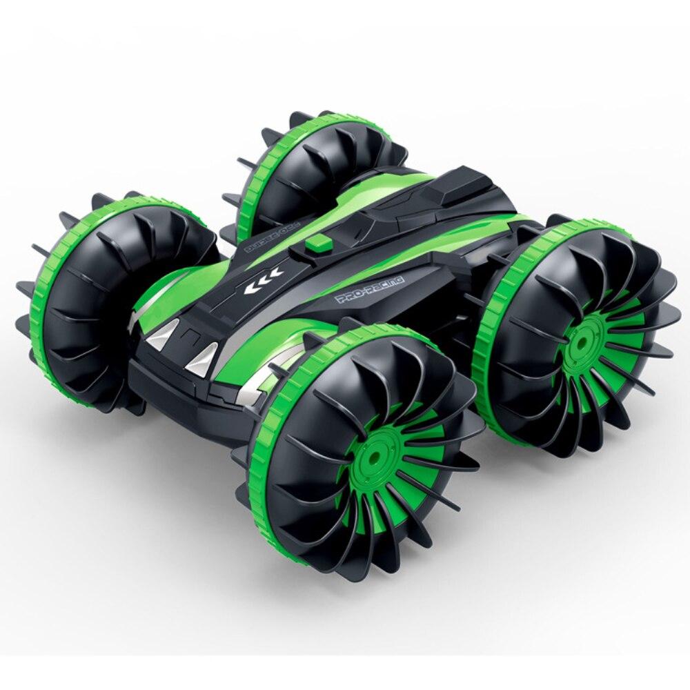 360 Поворот Rc автомобили дистанционное управление Управление Stunt автомобилей 2 кристалла по бокам Водонепроницаемый вождения на воде и земле амфибия электрические игрушки для детей 3