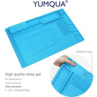Waking S 160 Repair Antistatic Mat Magnetic Section Heat Insulation Soldering Silicone Pad Platform For BGA