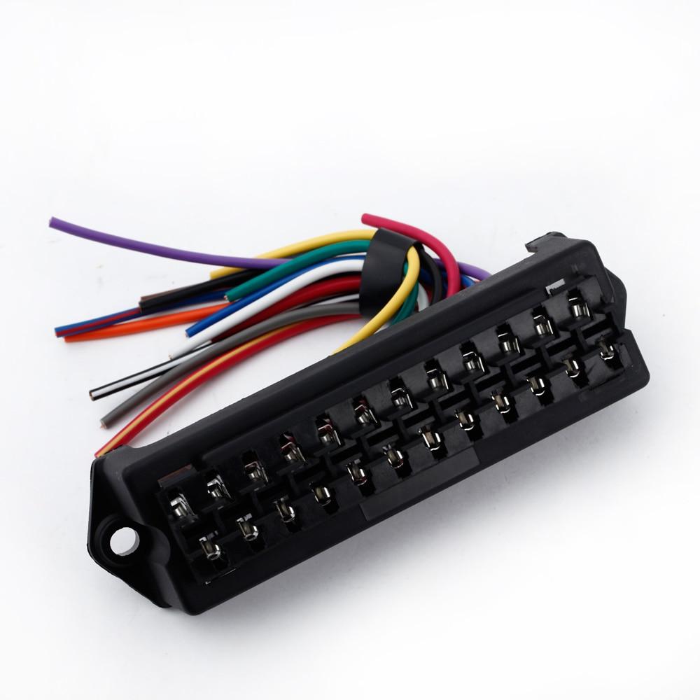 new 12 way dc 12v volt fuse box 24v 32v circuit car trailer auto blade fuse  box block holder atc ato 2 input 12 ouput wire|fuses| - aliexpress  aliexpress