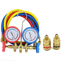 Various Combinations With 1/4'' SAE Hose For Household/Automobile Air Conditioning R134a R12 R22 R404a A/C Manifold Gauge Set