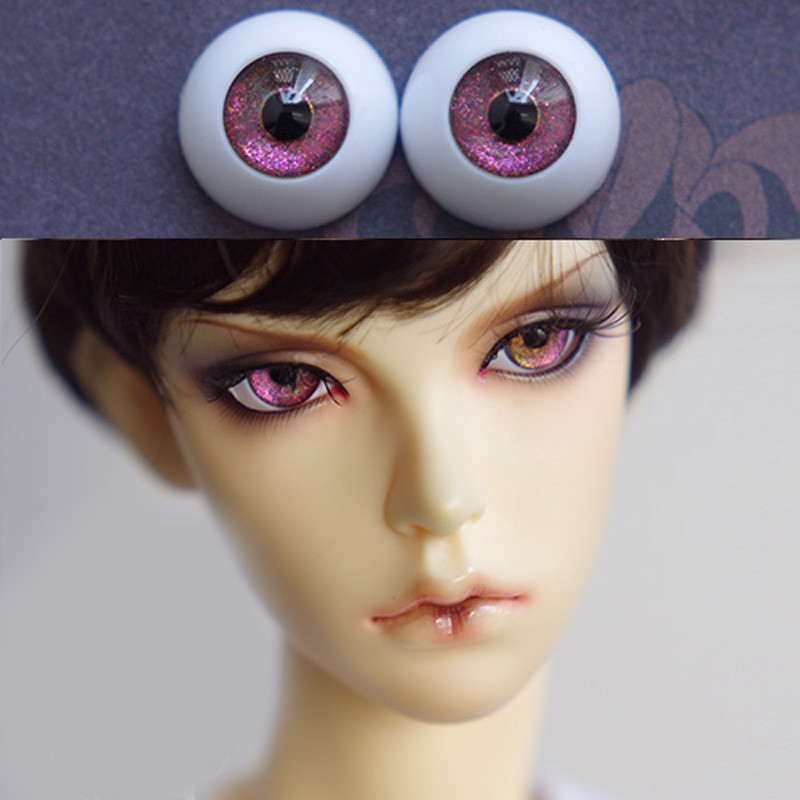 Green purple star doll eyes  for 1/3 1/4 1/6 bjd Dolls toys sd  eyeball 8mm 16mm 18mm 20mm Acrylic EYEs for dolls doll accessary 1 3 1 4 1 6 1 8 1 12 bjd wigs fashion light gray fur wig bjd sd short wig for diy dollfie