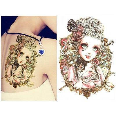 Muchacha Encantadora Grandes Ojos De Muñeca Tatuaje Tatuajes Body