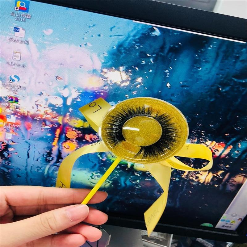 50 Pairs Sticker Logo 3D Really Mink Eyelashes Extention Str