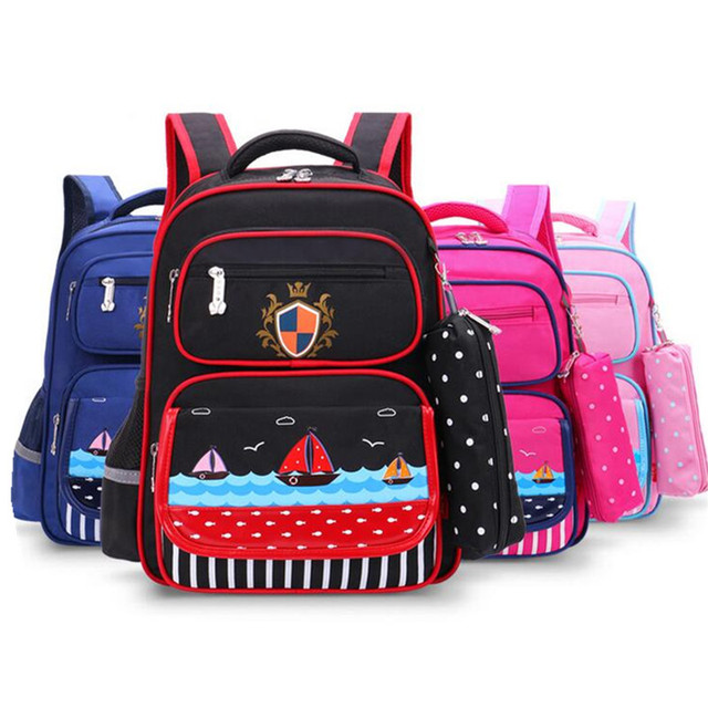 050cee2b00 Sailor Style Children Boy Backpack for Girl Students Cartoon Print  Schoolbag Kids Casual Shoulder Bookbag Baby Mochila Infantil