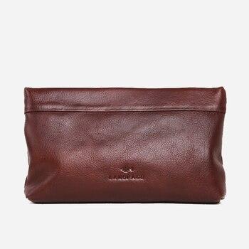 LANSPACE genuine leather men wallets famous brand men bag fashion men's handbag