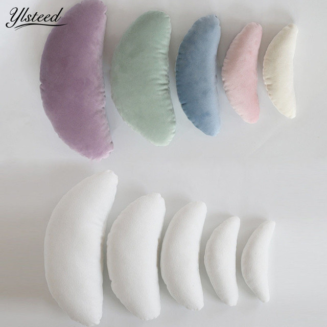 5pcs Newborn Posing Baby Photography Props Posing Pillow Newborn Positioner Baby Cushion Crescent Pillow Photography Accessories