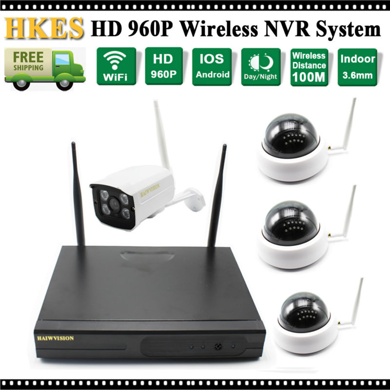 4CH IR HD Home Security Wifi Wireless IP Camera System 960P CCTV SET Outdoor Indoor Wifi Cameras Video NVR Surveillance CCTV KIT keeper 700tvl 4ch home video cctv surveillance system kit for analog camera 2pcs outdoor indoor dome 20m ir security camera