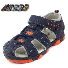 Детские сандалии мальчика сандалии обувь мода повседневная сандалии полые воздуха спортивные сандалии