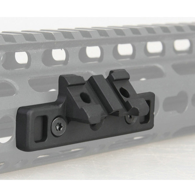 High Quality Airsoft Keymod 1913 Offset Adaptive Rail Mounted Weapon Light Mount For Attaching SF M300 600
