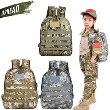 Outdoor Chicken Jedi Children Three-Level Backpack Stude Computer Camouflage Bag Kids School Bag Tactical Travel Rucksack(China)