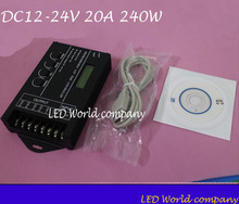 Controlador de led rgb programável, tc420, DC12V 24V 5 canais, led, temporizador, total, saída 20a, anodo comum com fio usb