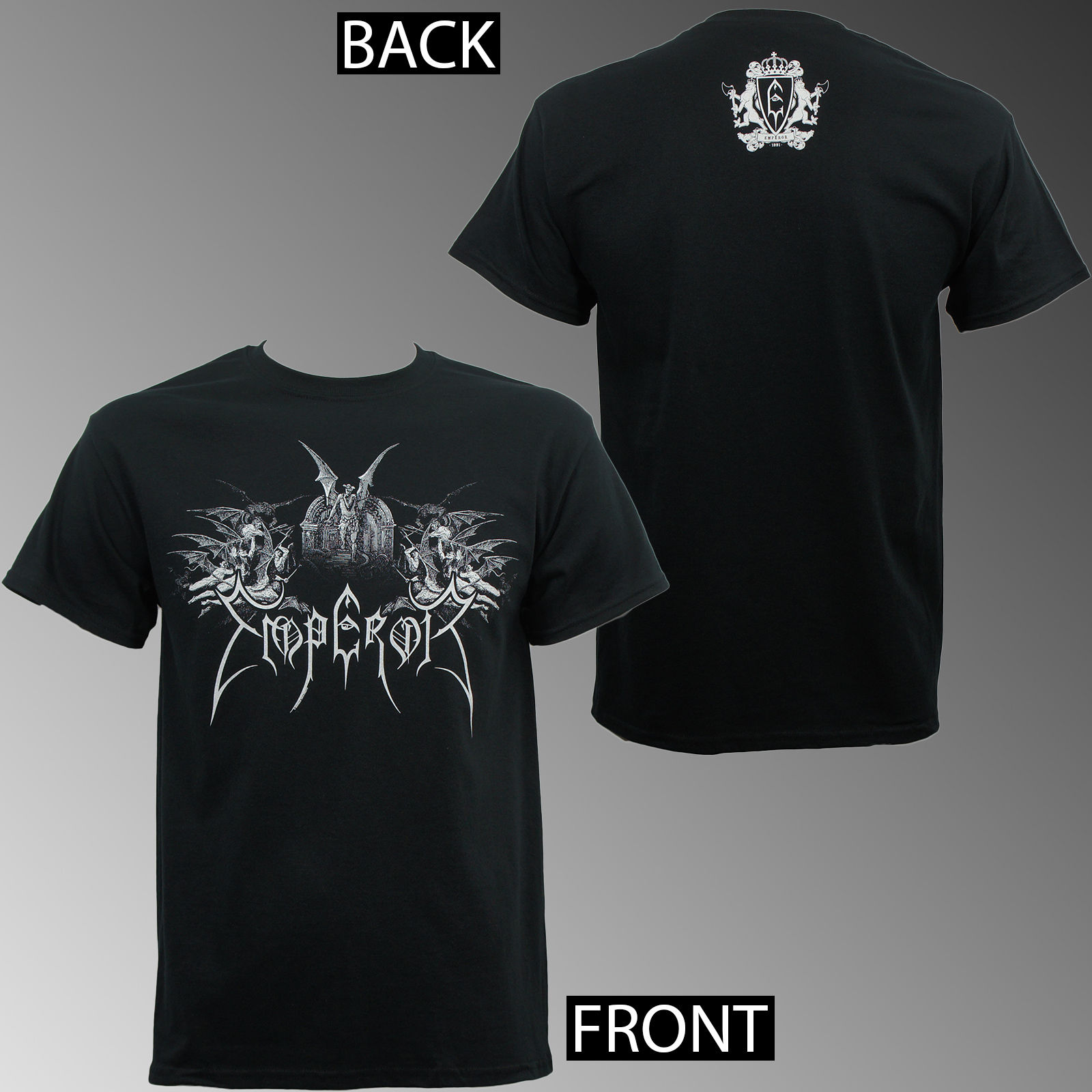 Men Summer Style Authentic Emperor Band Praise The Lord Winged Demons T-shirt S M L Xl 2xl New