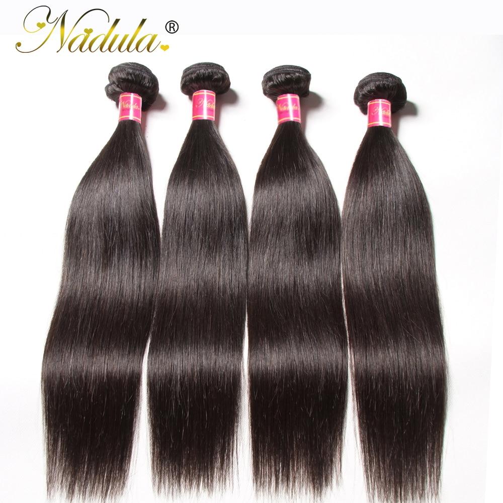 Flokët Nadula 1 copë / 3 pako / 4 pako flokësh të drejtë drejt - Flokët e njeriut (të zeza) - Foto 3