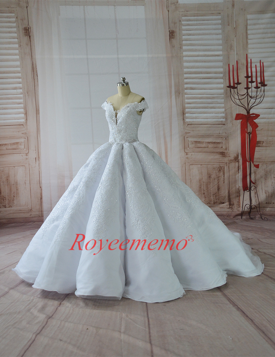 vestido de noiva hot sale Big Wrinkled Ball Gown Luxury Wedding ...
