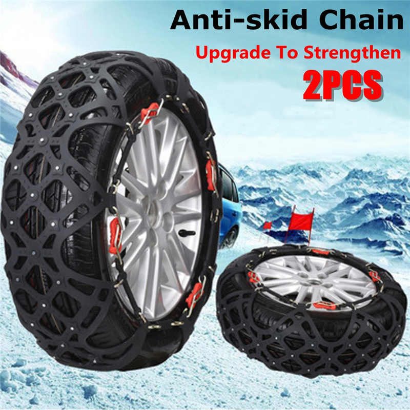 1 Set 6pcs Auto Car Snow Anti-skid Chain Vehicles Wheel Antiskid Non-slipping Tire Snow Chains For 175/65r14 175/70r14 175/75r14