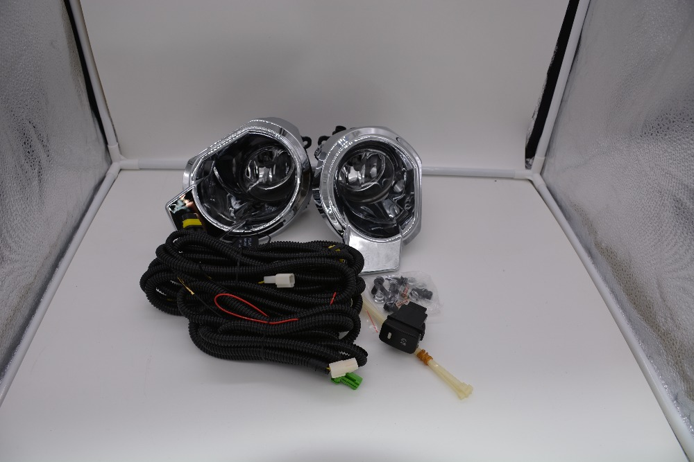 eOsuns halogen fog lamp with wires harness relay, switch, fog lamp house and frame cover complete kit for ford focus ranger 2012 eosuns halogen fog lamp with wires harness switch fog lamp house and frame cover complete kit for toyota sienna 2012 2013
