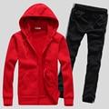 2017 Casual Lovers Casual Suit Men's &Women Autumn Zipper Hoodies &Sweatshirts Fashion Coat+Pant Solid Tracksuit Menswear Sets
