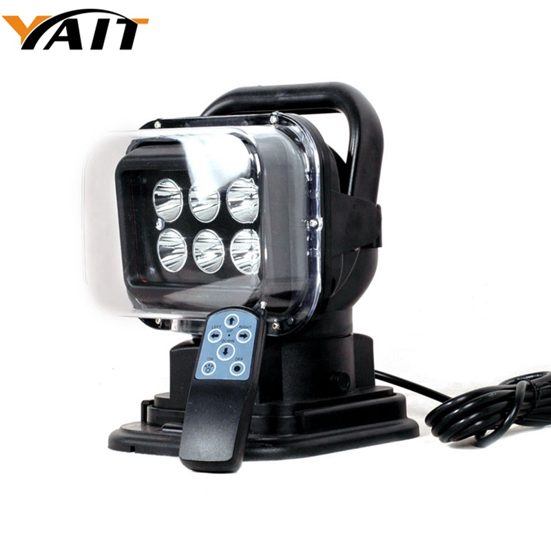 Yait 1* 7 30W Led Remote control Searchlight 7inch 12v Spot LED Work searching Light for TRUCK BOAT MARINE Remote control light keyshare dual bulb night vision led light kit for remote control drones