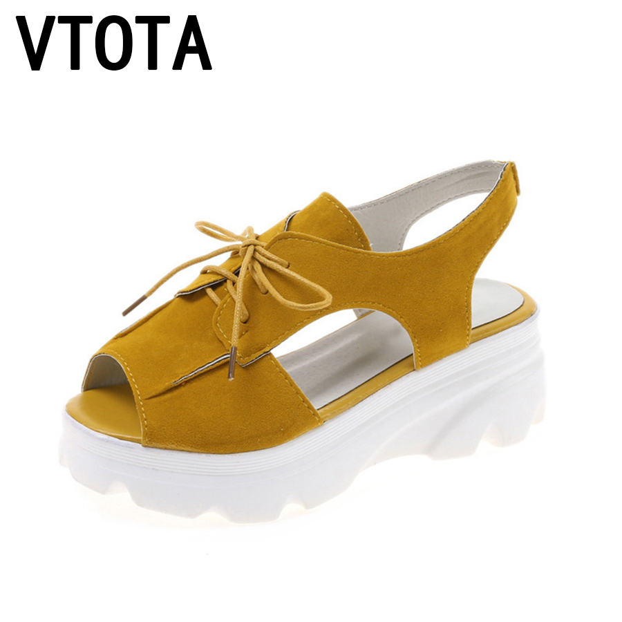 VTOTA Sandals Women Wedges Shoes Gladiator Sandals Women Summer Shoes Platform Fashion Casual Ladies Shoes sandalias mujer B29 women sandals 2017 summer shoes woman wedges fashion gladiator platform female slides ladies casual shoes flat comfortable