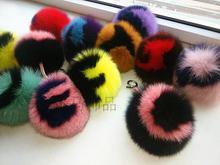 Free shipping fashion Fox fur monster Plush toy Super cute letters Bag Accessory charm small Pendant