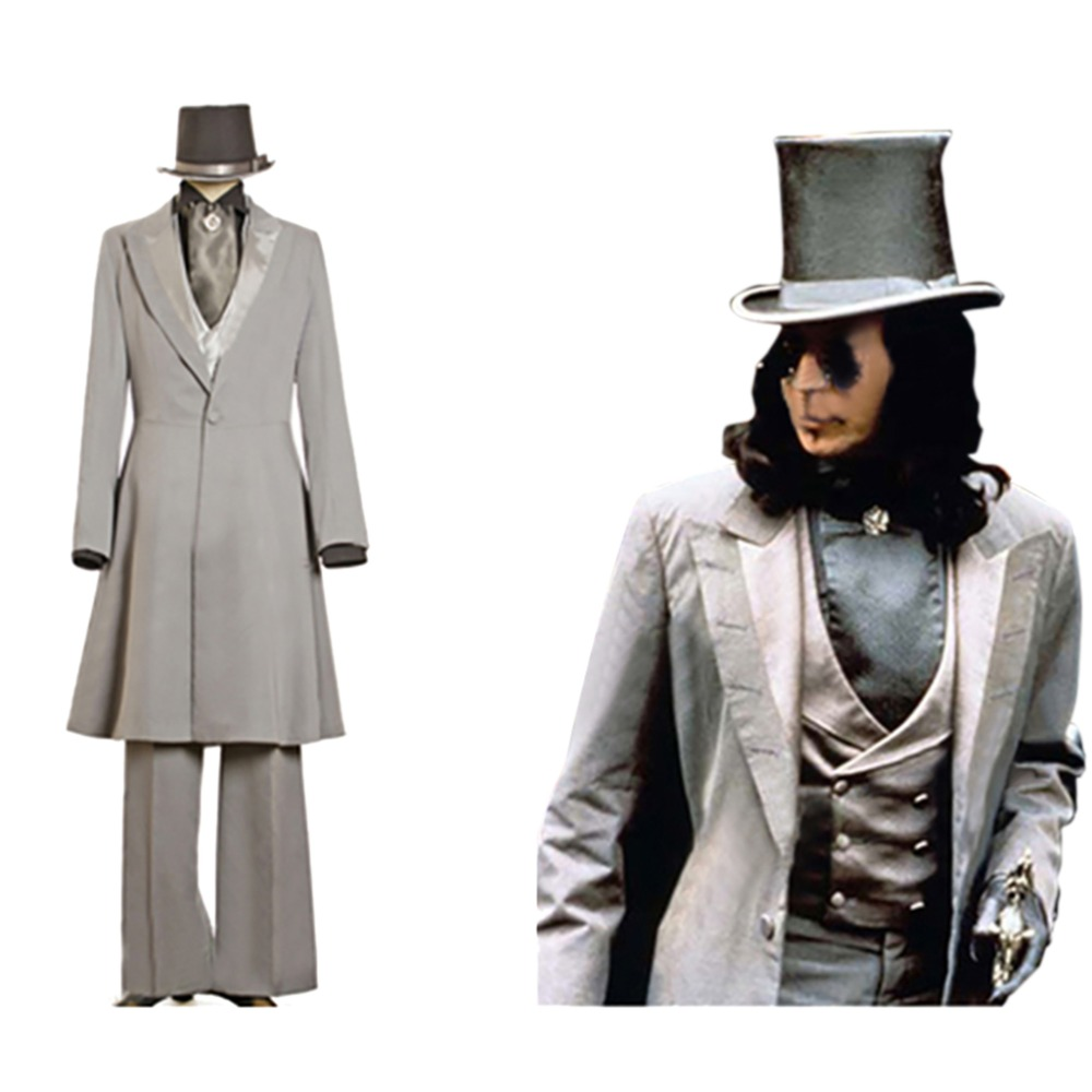CosplayDiy Costume homme film Dracula gothique victorien Cosplay le Vampire Dracula Trench Coat pour Halloween Cosplay Party