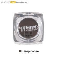 PCD Permanent Makeup Ink Lip Tattoo Ink Set Eyebrow Microblading Pigment Professional Encre A Levre 10ML 3PCS Deep Coffee J21