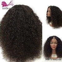 EAYON 180% плотность афро кудрявый вьющиеся U часть парик их натуральных волос Девы монгольский Remy человеческие волосы Upart Искусственные парики