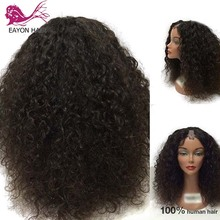 EAYON 180% Density Afro Kinky Curly U Part Wig Human Hair Virgin Mongolian Remy Upart Wigs Curls For Women