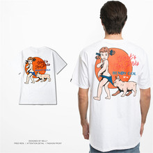 Nelly Summer Printing 100% Cotton  O NECK T Shirts Hip Pop Funny printed Tees Cool Street Skateboarding short sleeved Tshirt hot