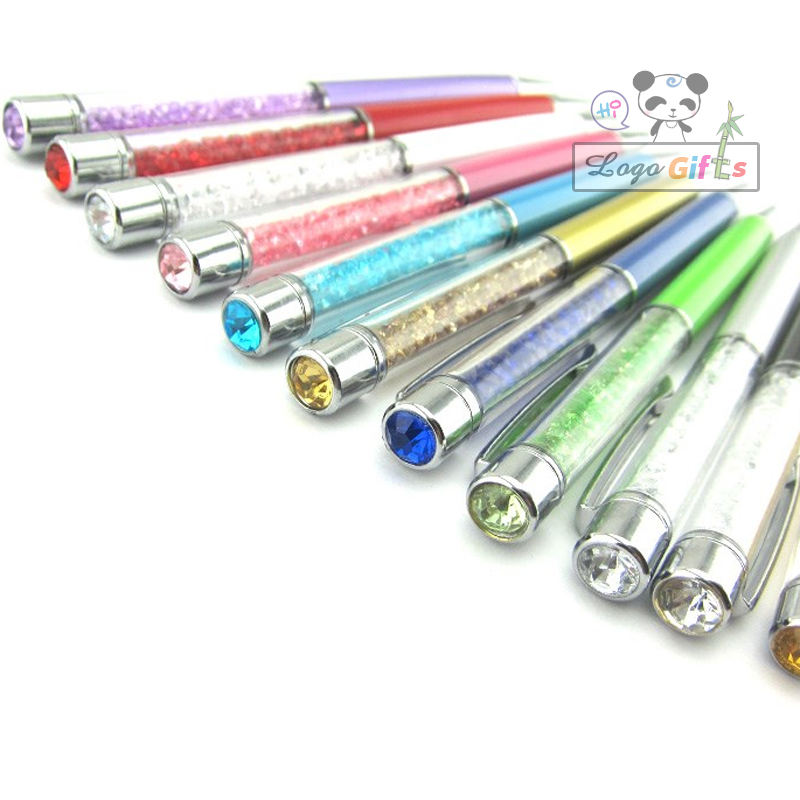 HOT muslim wedding Favors and gifts crystal pens custom print with date for backdrops