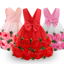 kids dresses for girls stripe bow Dress Baby girls Princess Dresses Children Sleeveless Party Wedding ball Gown Carnival childre baby girls summer dresses casual cotton kids bow lace ball gown princess dress children clothes