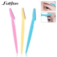 Fulljion 3Pcs/Set Women Eyebrow Razor Facial Hair Remover Eyebrow Trim