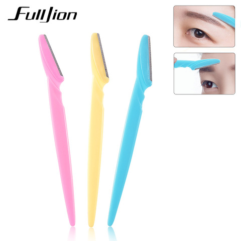 Fulljion 3Pcs/Set Women Eyebrow Razor Facial Hair Remover Eyebrow Trimmer Eye Brow Shaver Makeup Knife Face Care Hair Removal Pakistan