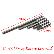 1Pcs Magnetic Extension Bit Set Extensions Quick Change 1/4″ Hex rod Shank Long Handle Screwdriver Tip Holder Hand Tool Socket