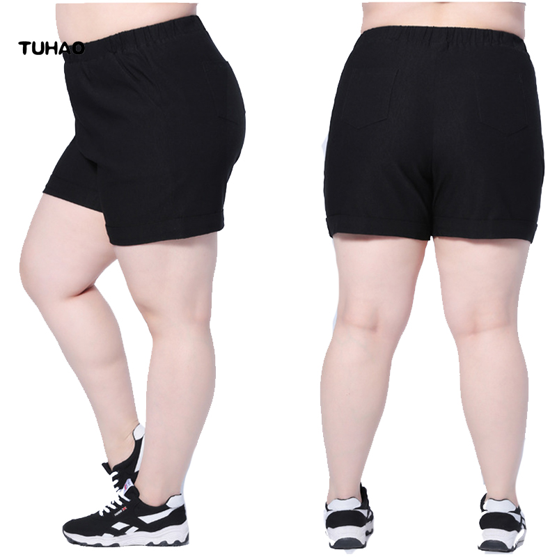 TUHAO SHORTS large sizes 2019 Summer Shorts Women Big Size 4XL 5XL 6XL 7XL CASUAL Short Trouser Female Short Feminino YB03