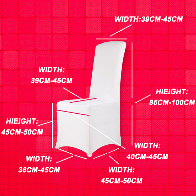 Luxury Christmas Chair Covers Heavy Duty Folding With Side Table 100pcs Universal Hotel White Lycra Cover Stretch Spandex For Wedding Party Dining Room Decor