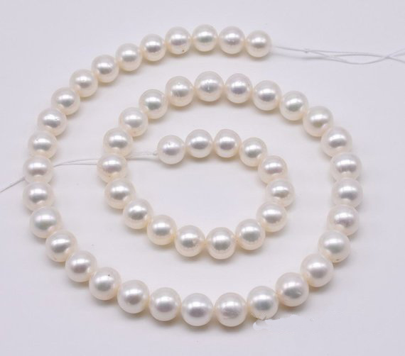 AA 7.5-8 MM véritable perle d'eau douce perles en vrac, perle réelle ronde blanche, belles perles en vente, nouvelle livraison gratuite