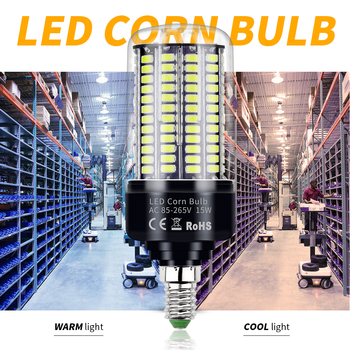 цена на AC 85-265V E27 Super Bright Led Lamp E14 Led Corn Bulb SMD 5736 Smart IC Led Light 28 40 72 108 132 156 189leds Constant Current