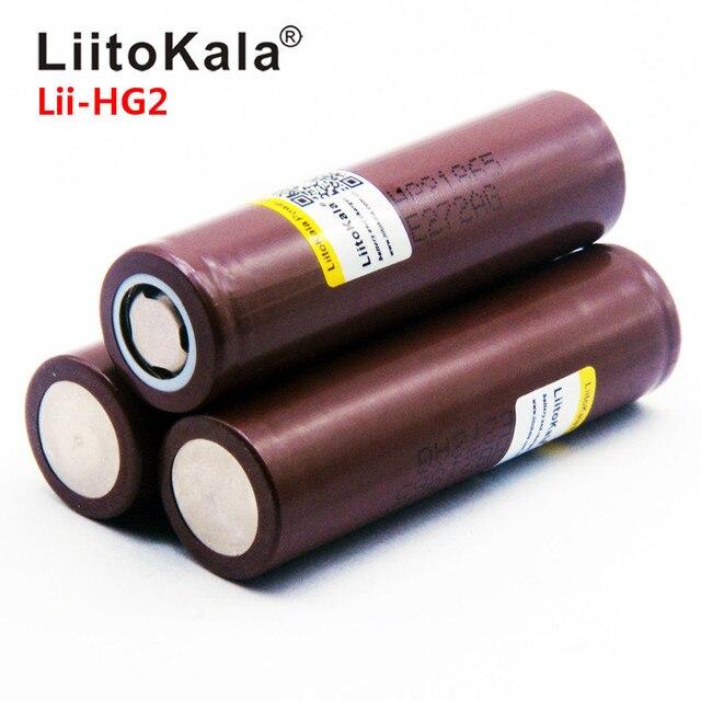 2019 LiitoKala Lii-HG2 18650 18650 3000mah Ad Alta potenza di scarica di potenza della batteria Ricaricabile di alta di scarico, 30A grande corrente 4