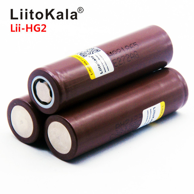 Hot LiitoKala Lii-HG2 18650 18650 3000mah High power discharge Rechargeable battery power high discharge,30A large current 3