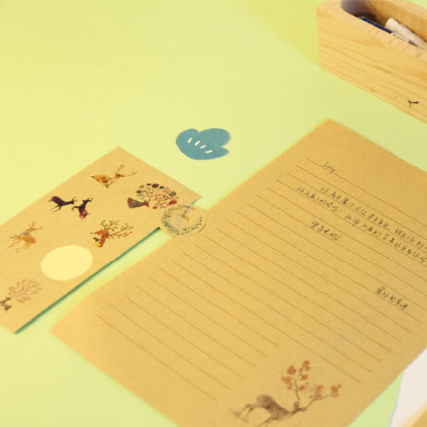Купить с кэшбэком 16pcs/pack Chinese Style Painting Elk Sealing Stickers DIY Decorative Paper Sticker Sealing Package Label Stationery