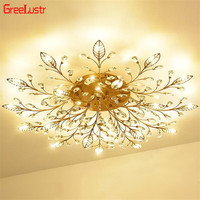 Europe Luxury Crystal Chandelier Ceiling Lamp Gold/Black Led Lustres For Bedroom G4 Chandeliers Fixtures Lamp Loft Luster