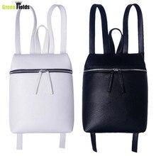 Simple Style Designer Femmes Sac À Dos Blanc et Noir Dame Voyage PU Sacs À Dos En Cuir De Mode Sac À Dos Femelle sac Mochila XA867B