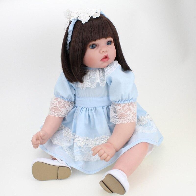 DOLL Simulation Silicone Reborn Babies  50cm Soft Full Body Silicone Reborn Dolls Unisex Newborn Kids Birthday Toys The elderly