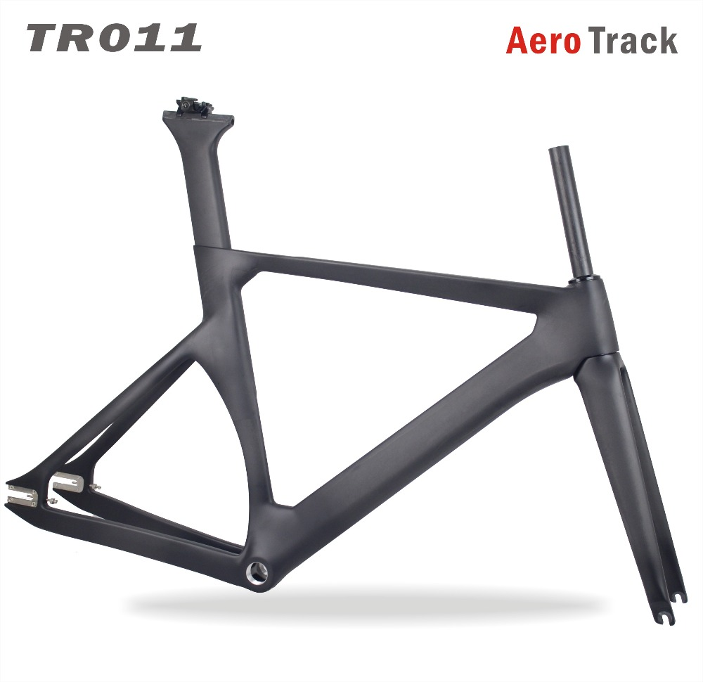 2018 MIRACLE New Aero 700c Carbon Track Bike Frame UD Weave Fixed Gear Carbon Bike Frame/fork/seatpost 48/51/54/57cm