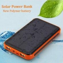 Dual USB мобильный телефон Солнечная сменная батарея 30000 мАч водостойкий Внешний источник питания Солнечные Панели
