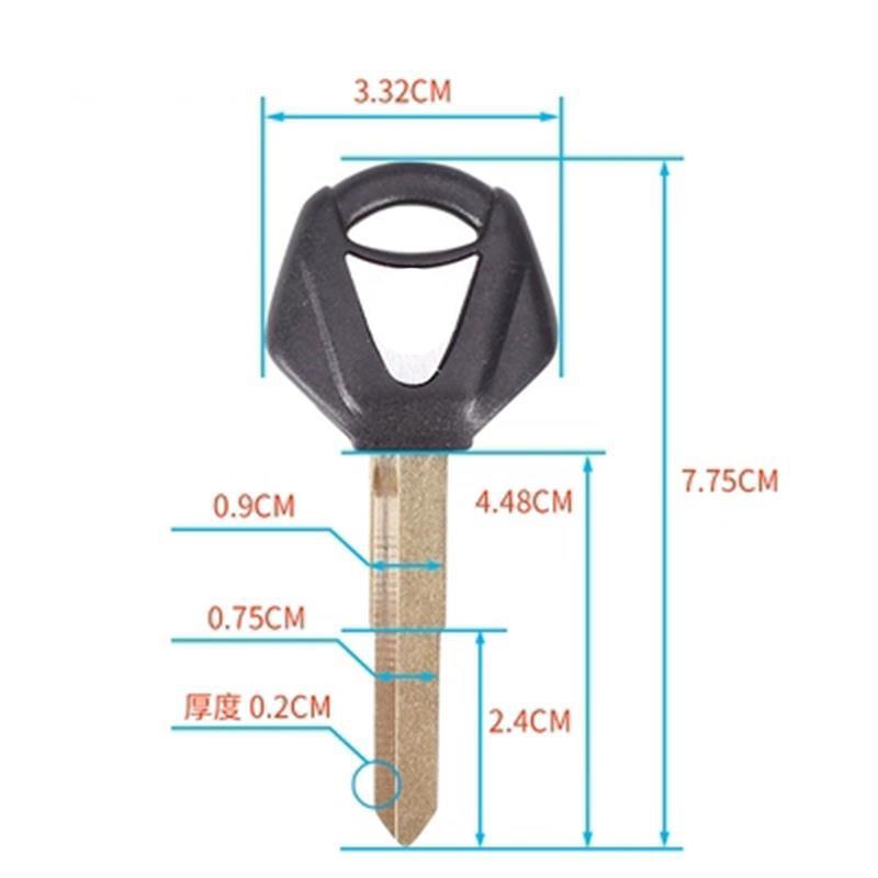 Motorcycle Keys Blank Key Uncut Blade For YAMAHA YZF600 YZF1000 R1 R6 FZ1 FZ6 XJ6 XJR1200 XJR1300 FJR1300 SR400 XVS400 XJR400