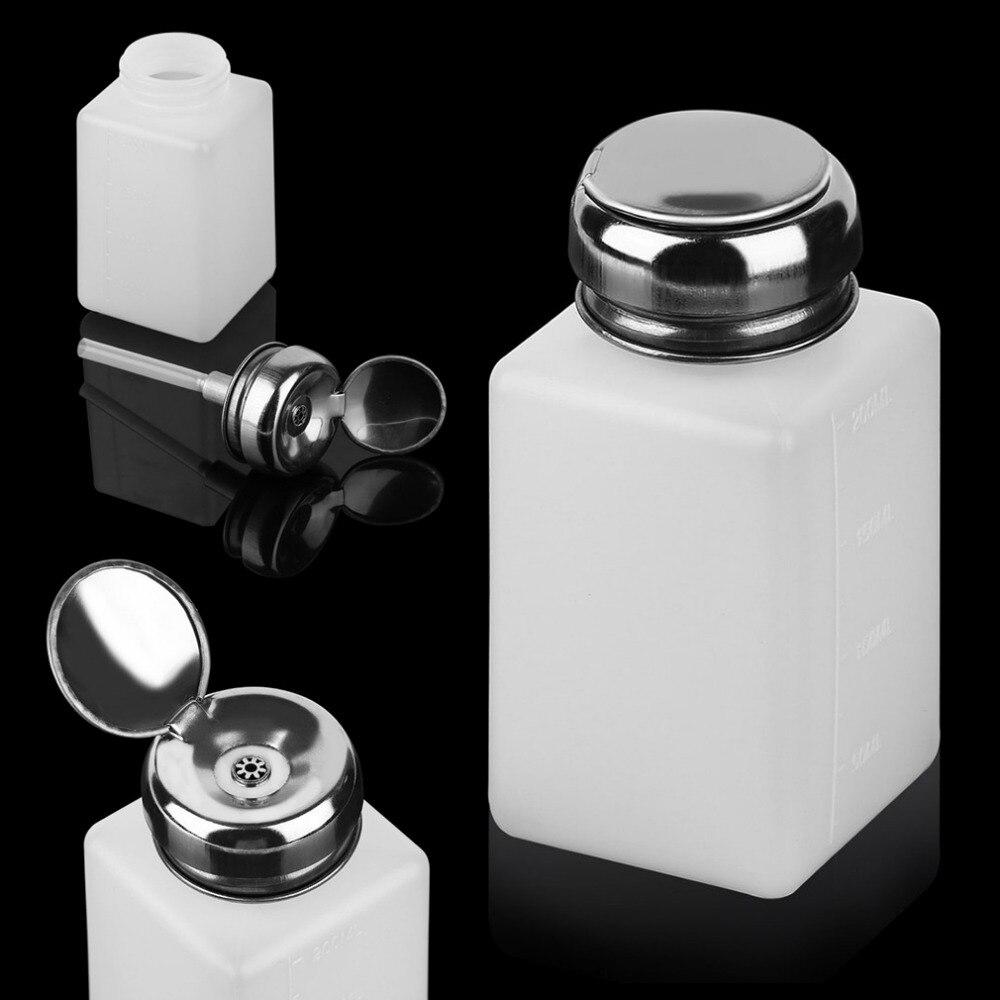 1pc 200ML White Nail Polish Remover Cleaner Bottle Vacuum Pump ...