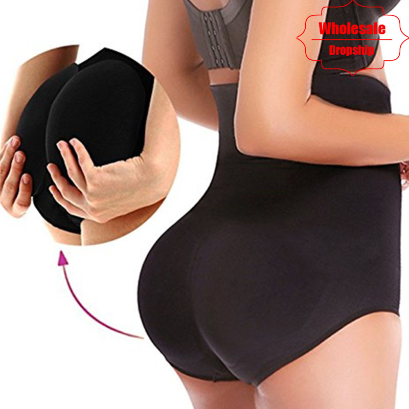 e62ce5428e NINGMI Women Paded Hip Enhancer Butt Lifter Waist Trainer Shapewear Wedding  Body Modeling Tummy Control Panties